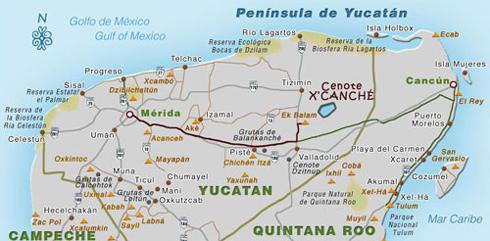 mapa turistico de yucatan xxus 2017